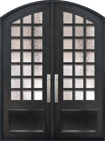 WDMA 72x96 Door (6ft by 8ft) Exterior 96in Cube 3/4 Lite Arch Top Double Contemporary Entry Door 1