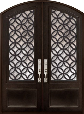 WDMA 72x96 Door (6ft by 8ft) Exterior 96in Eclectic 3/4 Lite Arch Top Double Contemporary Entry Door 1