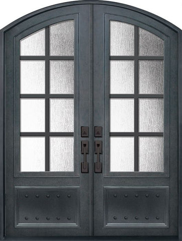 WDMA 72x96 Door (6ft by 8ft) Exterior 96in Minimal 3/4 Lite Arch Top Double Contemporary Entry Door 1