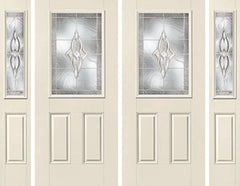 WDMA 84x80 Door (7ft by 6ft8in) Exterior Smooth Wellesley Half Lite 2 Panel Star Double Door 2 Sides 1
