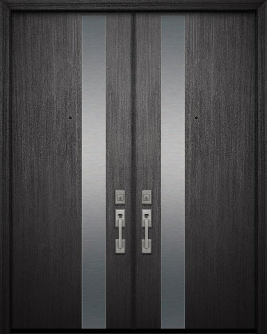WDMA 84x96 Door (7ft by 8ft) Exterior Mahogany 42in x 96in Double Costa Mesa Steel Contemporary Door 1