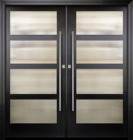 WDMA 84x96 Door (7ft by 8ft) Exterior Swing Smooth 36in x 80in Double 4 Block NP-Series Narrow Profile Door 1