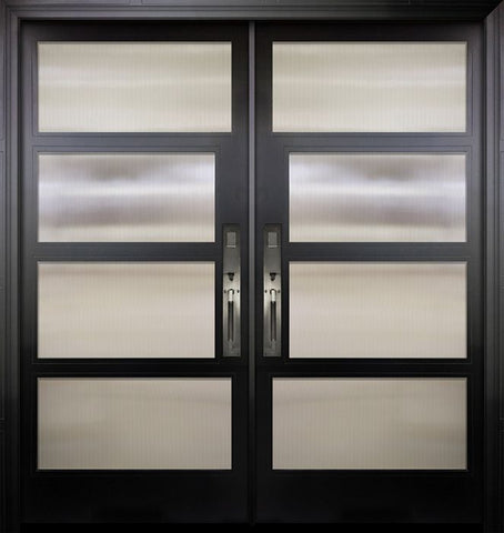 WDMA 84x96 Door (7ft by 8ft) Exterior Swing Smooth 36in x 80in Double 2 Block NP-Series Narrow Profile Door 1