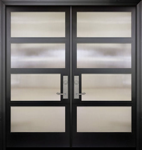 WDMA 84x96 Door (7ft by 8ft) Exterior Swing Smooth 36in x 80in Double 1 Block NP-Series Narrow Profile Door 1