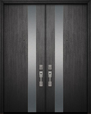 WDMA 84x96 Door (7ft by 8ft) Exterior Mahogany 42in x 96in Double Costa Mesa Solid Contemporary Door 1