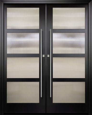 WDMA 84x96 Door (7ft by 8ft) Exterior Swing Smooth 42in x 96in Double 4 Block NP-Series Narrow Profile Door 1