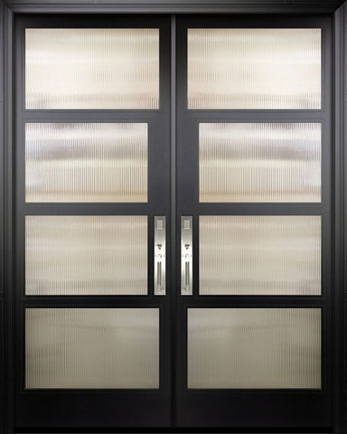 WDMA 84x96 Door (7ft by 8ft) Exterior Swing Smooth 42in x 96in Double 2 Block NP-Series Narrow Profile Door 1