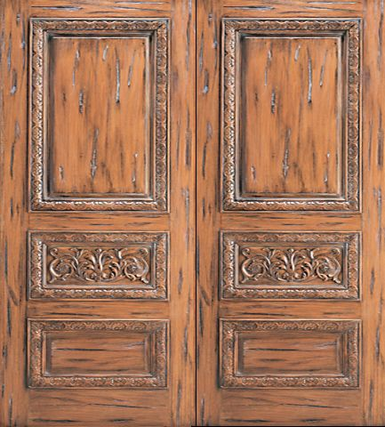 WDMA 96x120 Door (8ft by 10ft) Exterior Mahogany Tuscany Style Carved Double Door Solid  1