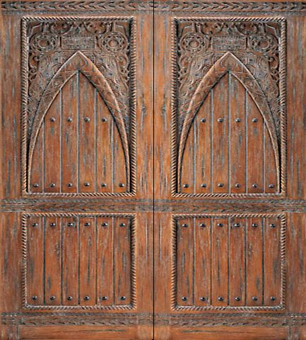 WDMA 96x120 Door (8ft by 10ft) Exterior Mahogany Moroccan Style Hand Carved Double Door 1