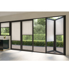 WDMA Air Tight Exterior Veranda Large Opening Big Aluminium Patio Bi Folding Stacking Doors