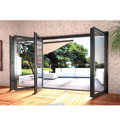 China WDMA Air Tight Exterior Veranda Large Opening Big Aluminium Patio Bi Folding Stacking Doors