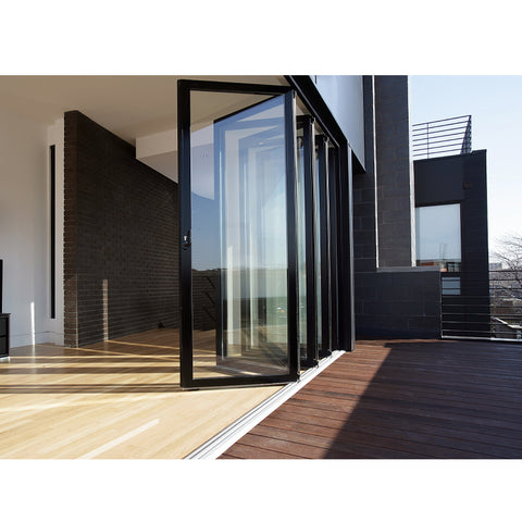 WDMA Aluminium Folding Glass Doors Soundproof Windows Doors