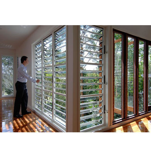 China WDMA louvre window with mosquito net Aluminum louver Window