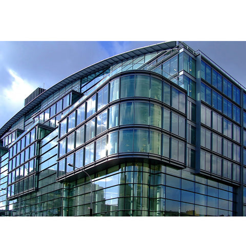 WDMA Aluminium Reflection Insulated Glazed Tempered Glass Facade Curtain Wall System Price Cost Per Square Metre