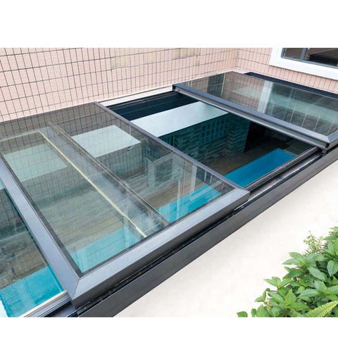 WDMA Aluminium Shatterproof And Hurricane Proof Sliding Roof Skylight Window For House Balcony Price List