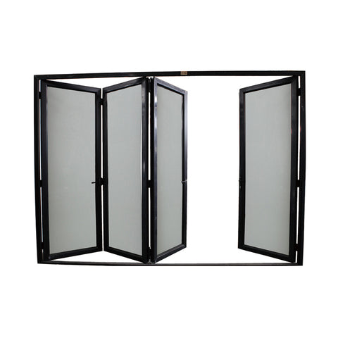 WDMA Aluminum Alloy Door Laminated Glass Accordion Doors Bathroom