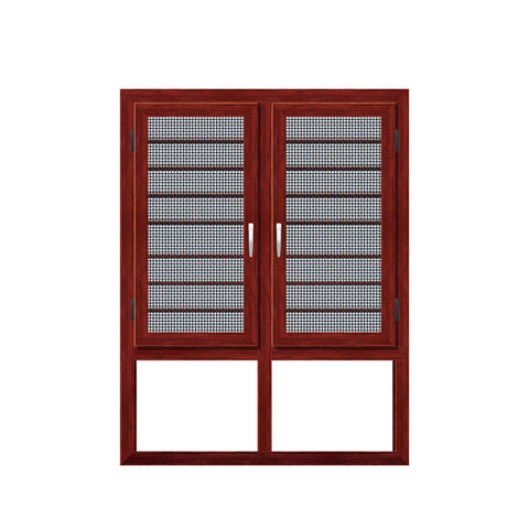 WDMA Aluminum Alloy Frame Material And Horizontal Opening Garden Window Glass Brown Color Single Pane Changing Analog Window