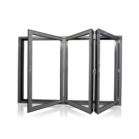 WDMA Aluminum aluminum Space-saving Double Glazed Folding Doors Windows