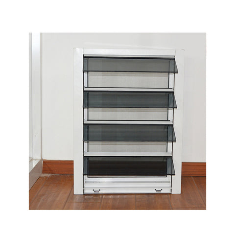 WDMA Aluminum Bathroom Louver Glass Shutter Window