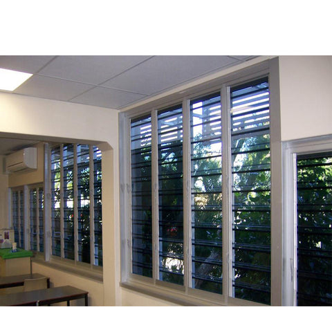 China WDMA glass louvre windows Aluminum Casement Window