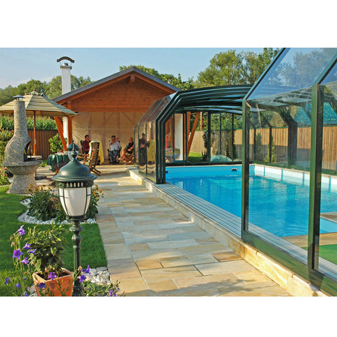 WDMA Aluminum Frame 6x3 Retractable High Pool Enclosures Pool Covers Price