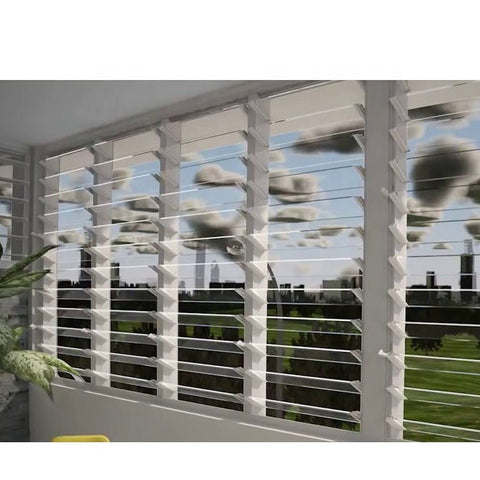 WDMA Aluminum Jalousie Fixed Panel Window Frosted Glass Design In The Philippines For Sale