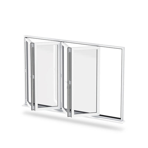 China WDMA vertical hinged window Aluminum Folding Window