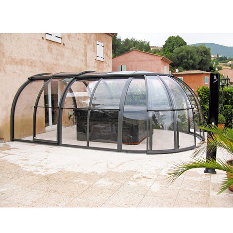 China WDMA polycarbonate low level pool enclosure Aluminum Sunroom