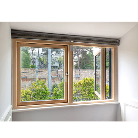 WDMA America Style Aluminum Clad Wood Casement Window With Double Toughened Glass For Villa House
