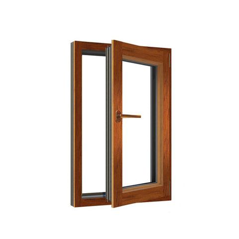 China WDMA Aluminum Clad Timber Glass Doors And Windows