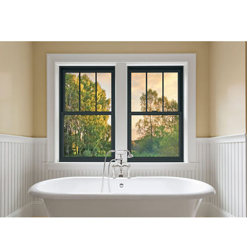 China WDMA decorative glass window style Aluminum Wood Single Hung Window