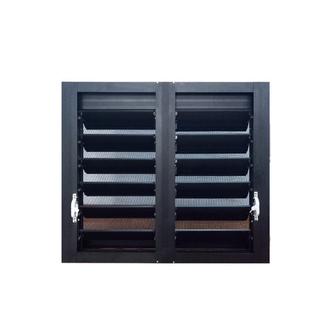 WDMA American Style New Design Aluminium Louvered Frame Basement Shutter Window In China