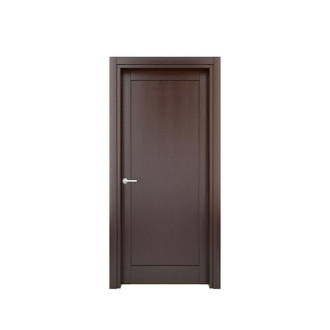 WDMA American Style Solid Teak Hardwood Wood Frame Double Swing Panel Door With Carved Design