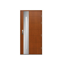China WDMA Apartment Pine Wooden Flush Doors Single Design House Wood Interior Room Door