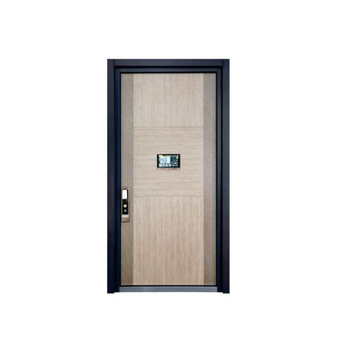 WDMA Arch Aluminium Office Swing Steel Panel Door Price Specification
