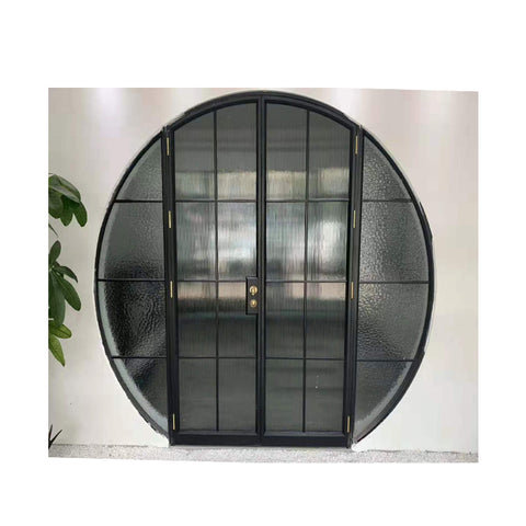 WDMA Arch Arched Top Interior Storm Aluminium French Door With Glass