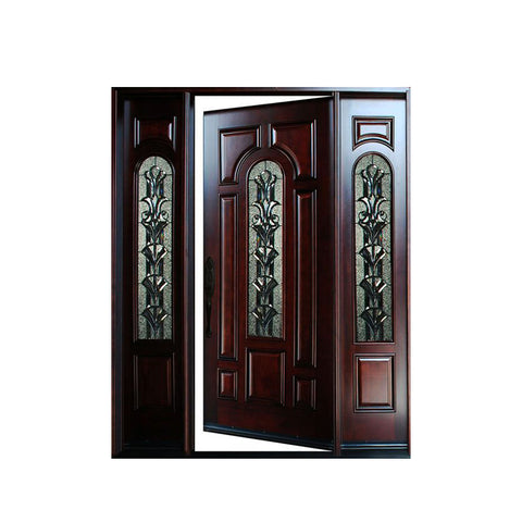 WDMA Arch Main Door New Design Oval Glass Entry Door