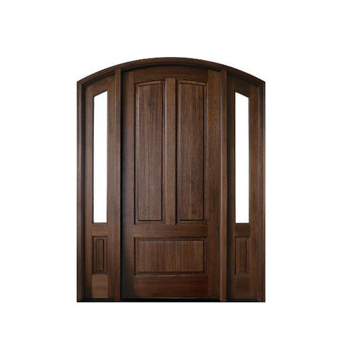 China WDMA oval glass entry door Wooden doors