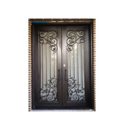 China WDMA front door iron wrought prices Steel Door Wrought Iron Door