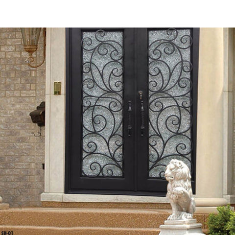China WDMA arched iron door Steel Door Wrought Iron Door