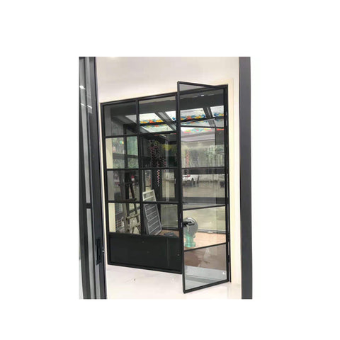 WDMA Arched Design Broken Bridge Floor To Ceiling Nigeria Aluminium Toilet French Swing Door Price