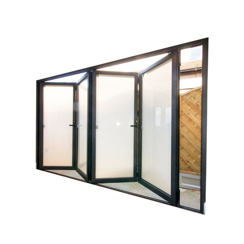 WDMA Australian Standard 4 Panel Lowes Folding Style Sliding French Doors Exterior With Retractable Fiberglass Mosquito Net