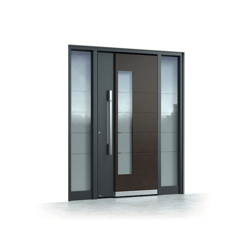 WDMA Black Main Pivot Entry Door Security Armored Stainless Steel Entrance Metal Pivot Front Door For Villa