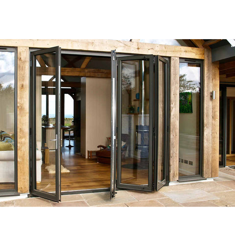 China WDMA Bi Fold Exterior Doors Motorized