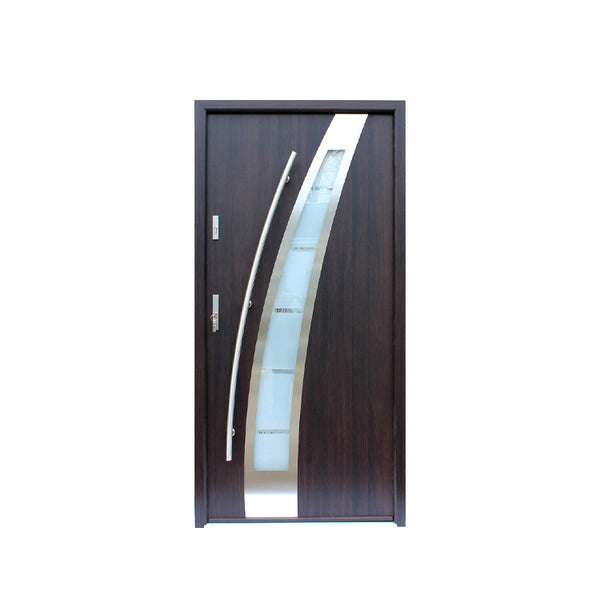 WDMA Burglar Proof Designs 304 Stainless Steel Safety Entry Residential Door Modern Exterior Stainless Steel Front Door