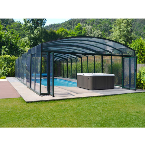 WDMA Cheap Aluminum Swimming Pool Enclosure Retractable Pool Dome Cover