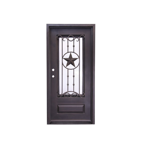 China WDMA cheap wrought iron door Steel Door Wrought Iron Door