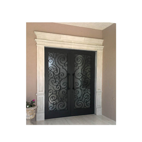 WDMA Cheap Modern Single Main Door Wrought Iron Gate Design