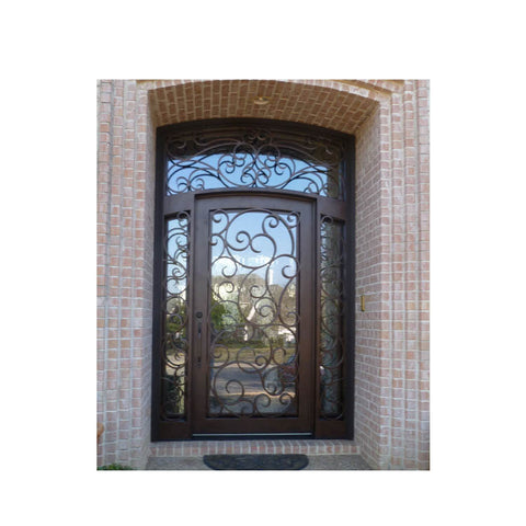 China WDMA main door iron gate design Steel Door Wrought Iron Door