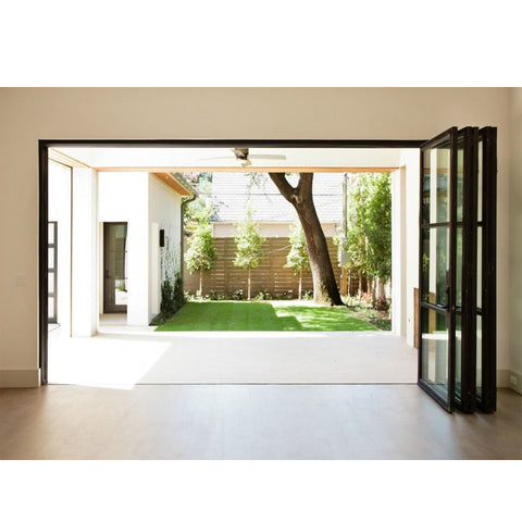 WDMA Cheap Price Double Glazed Aluminum Folding Sliding Screen Doors For Sale